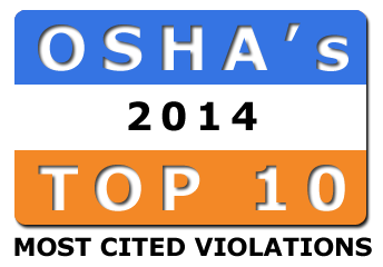 OSHA's Top 10 Most Frequently Cited Standards for 2014