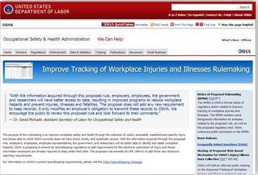 Final Stages: OSHA's Proposed Rule to Improve Tracking of Workplace Injuries and Illnesses