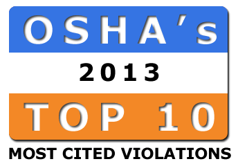 OSHA's Top 10 Most Frequently Cited Standards for 2013